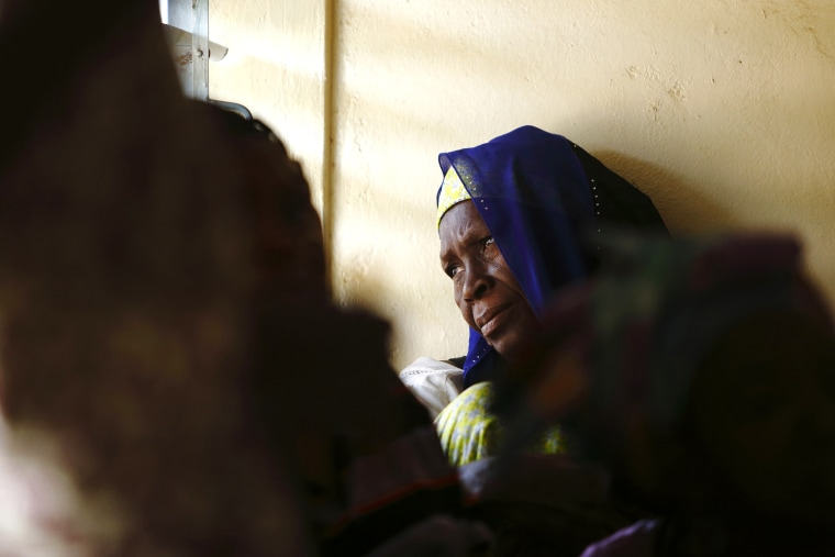 A woman attends a talk on sexual health and HIV prevention in Ouagadougou, Burkina Faso on April 13, 2013.