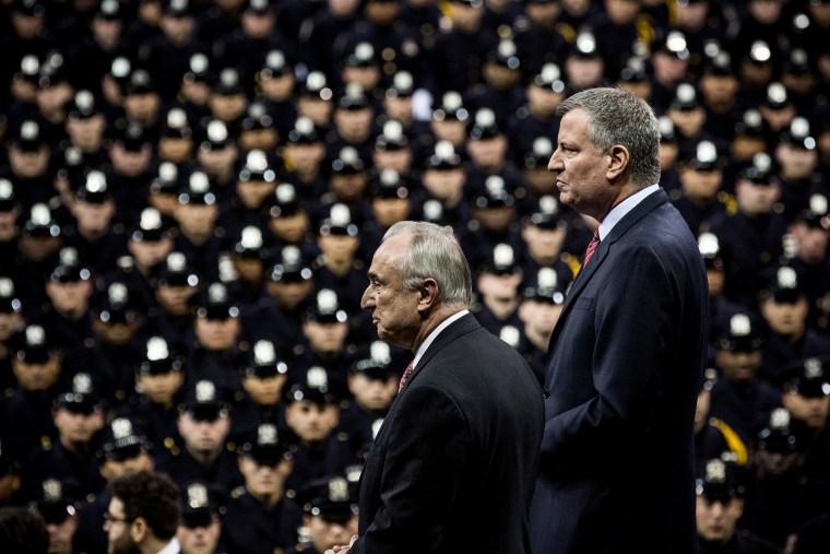 Bill De Blasio Addresses NYPD Graduates At Ceremony At Madison Square Garden