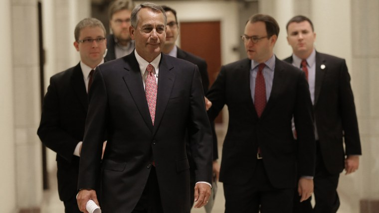 House Speaker John Boehner Holds Weekly News Conference