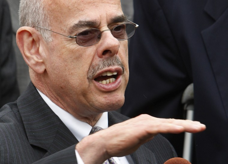 Rep. Henry Waxman, D-Calif. speaks to reporters, Tuesday, May 5, 2009, in Washington, D.C.