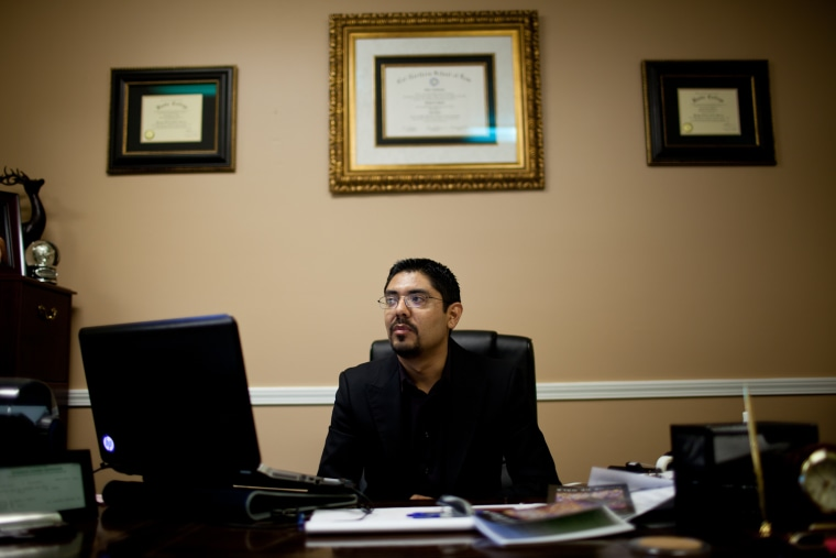 Sergio Garcia works at his office in Chico, California, April 2, 2013.