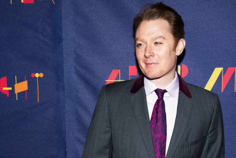 """Clay Aiken attends the Broadway opening of """"After Midnight"""" on Sunday, Nov. 3, 2013 in New York."""