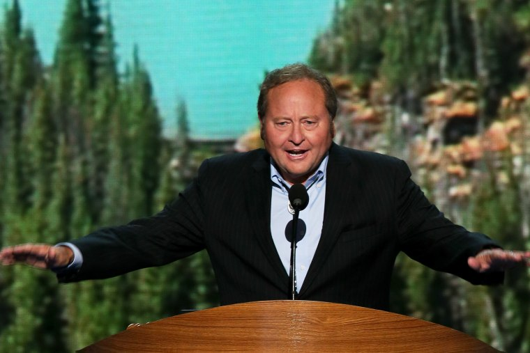 Montana Gov. Brian Schweitzer speaks on stage during the final day of the  DNC in Charlotte, N.C., Sept. 6, 2012.