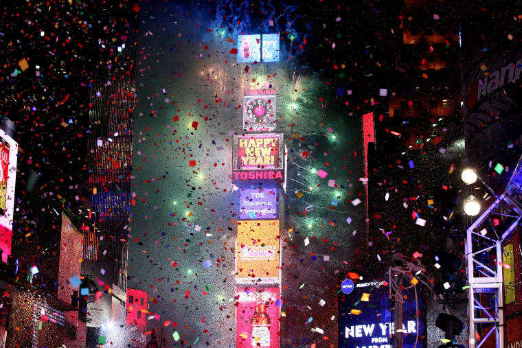 The New Year's Eve 2014 Celebration in Times Square on Dec. 31, 2013 in New York, N.Y.