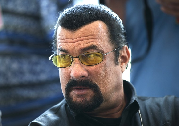Actor Steven Seagal waits for a news conference in the U.S. embassy in Moscow, Russia, June 2, 2013.