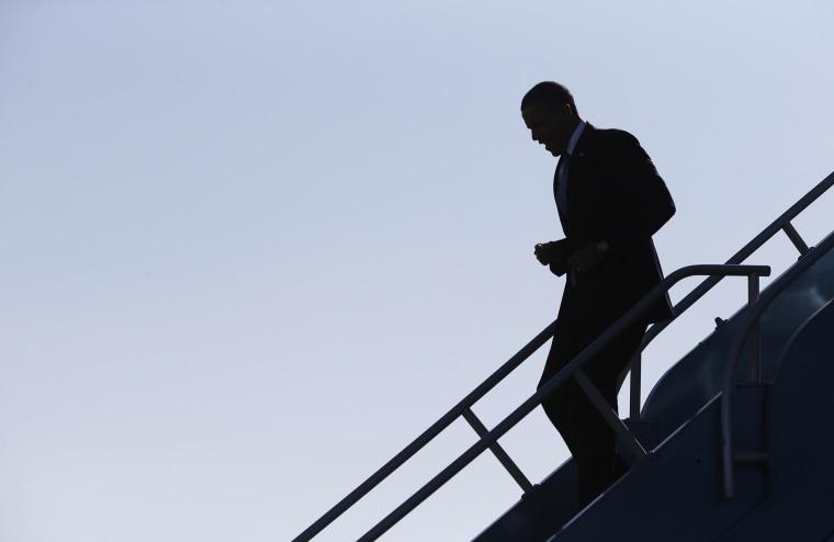 U.S. President Barack Obama arrives in San Francsico, November 25, 2013.