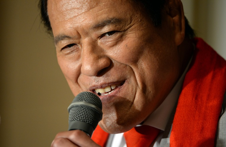 Antonio Inoki, a Japanese politician and former wrestler, in Tokyo on Aug. 5, 2013.