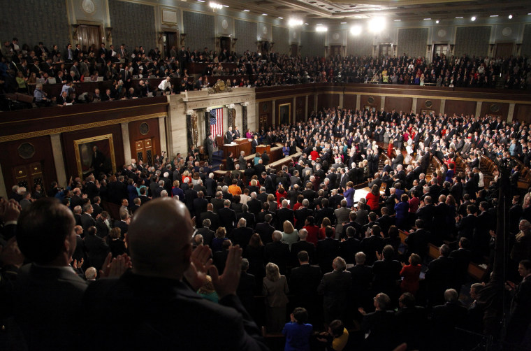 President Barack Obama delivers his State of the Union speech to a joint session of Congress on Capitol Hill in Washington, February 12, 2013.