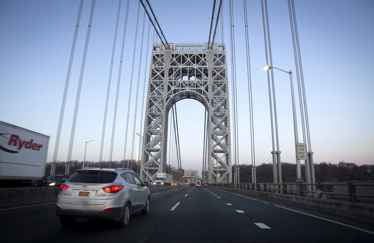 The George Washington Bridge is pictured in New York
