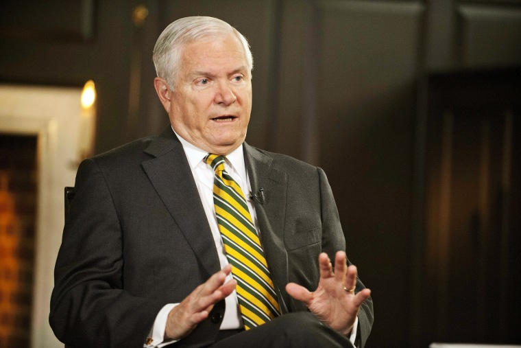 "Former Defense Secretary Robert Gates talks with ""Face the Nation,"" May 11, 2013."