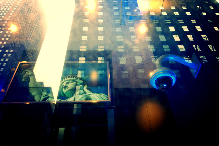 A camera is seen monitoring customers, New York, NY.