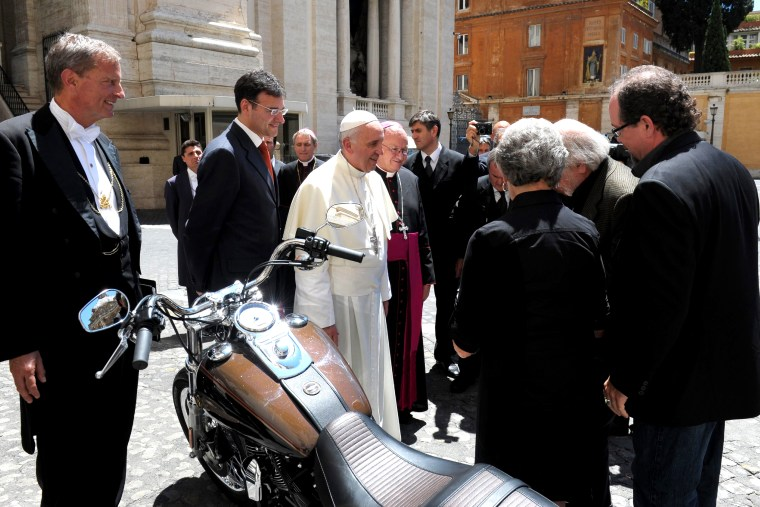 Harley-Davidson of Pope Francis to be auctioned