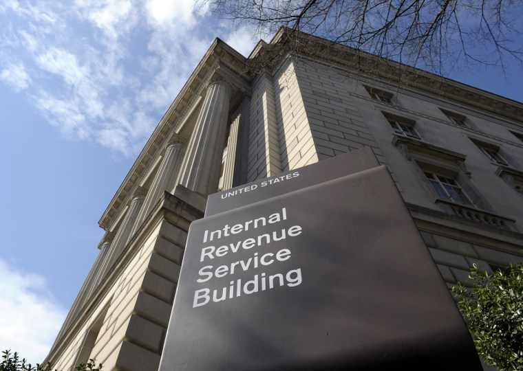 This photo taken March 22, 2013, shows the exterior of the Internal Revenue Service (IRS) building in Washington.