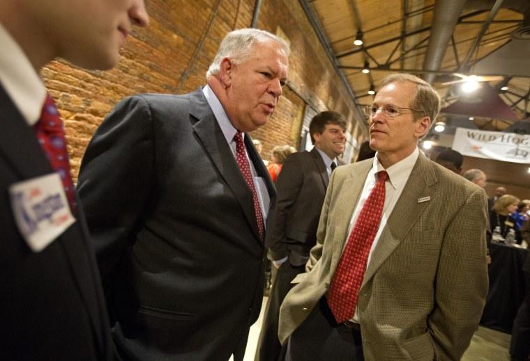 Republican candidate for U.S. Senate, Rep. Jack Kingston, R-Ga., at the Wild Hog Supper, Sunday, Jan. 12, 2014, in Atlanta.