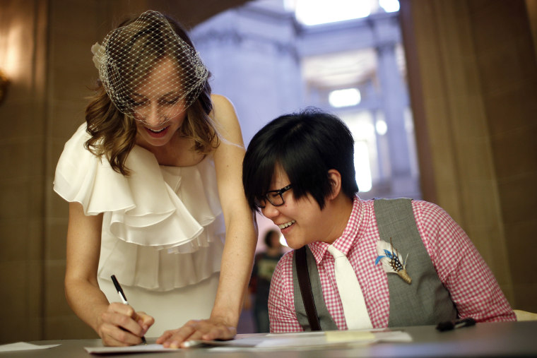 Same-sex couple marries at City Hall in San Francisco
