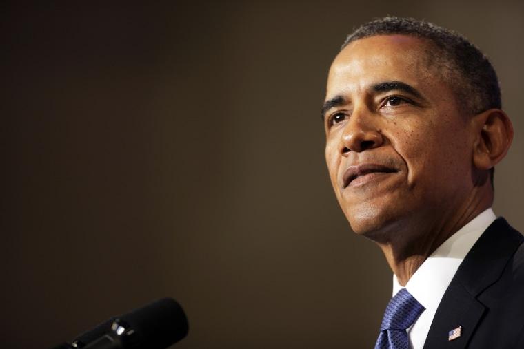 Obama delivers remarks on signals intelligence programs in Washington DC, Jan. 17, 2014.