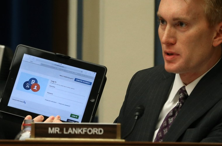 Rep. James Lankford during a House Oversight and Government Reform Committee hearing November 13, 2013 in Washington, D.C.