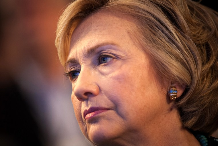 Hillary Clinton watches during the Clinton Global Initiative 2013 (CGI), Sept. 24, 2013, in New York, N.Y.