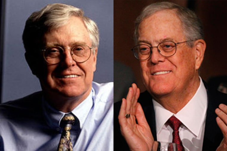 The Koch brothers, Charles (left) and David (right) of Koch Industries