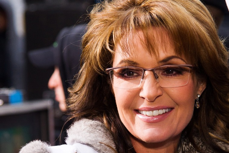 "Sarah Palin appears on NBC's ""Today"" show, Nov. 11, 2013."
