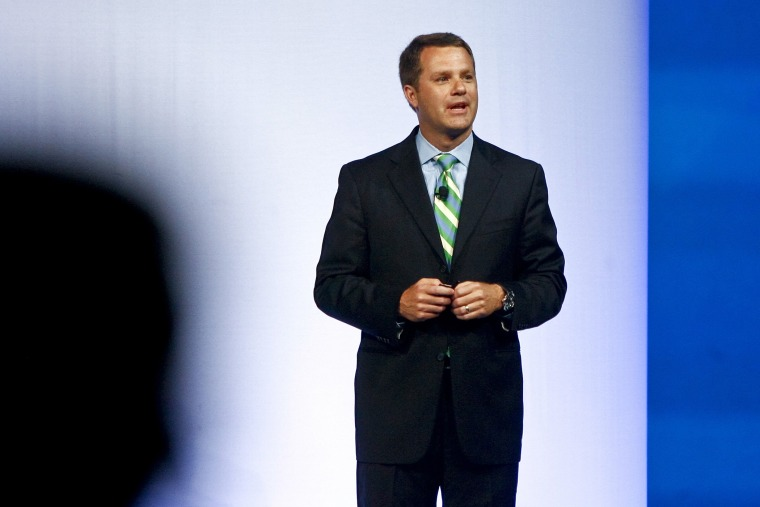 Doug McMillon, President and CEO of Wal-Mart, speaks to shareholders in Fayetteville, Arkansas June 3, 2011.