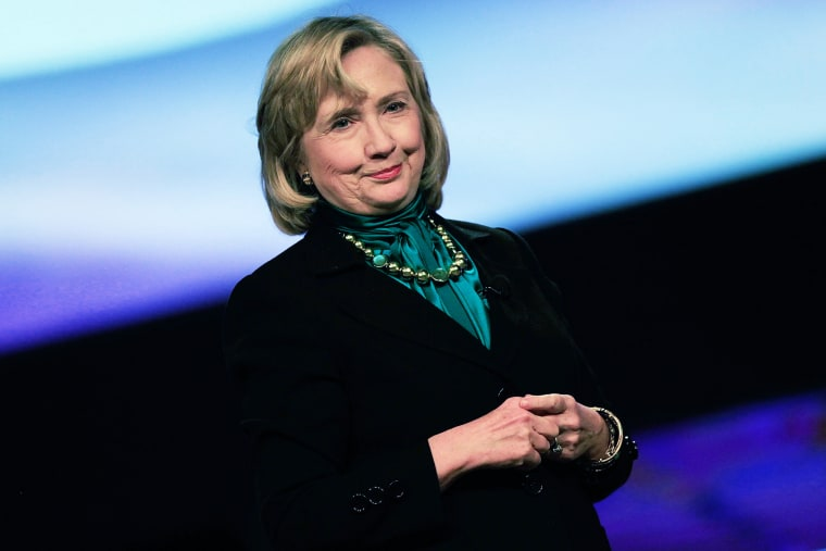 Hillary Clinton speaks at the 10th National Automobile Dealers Association Convention on Jan. 27, 2014.