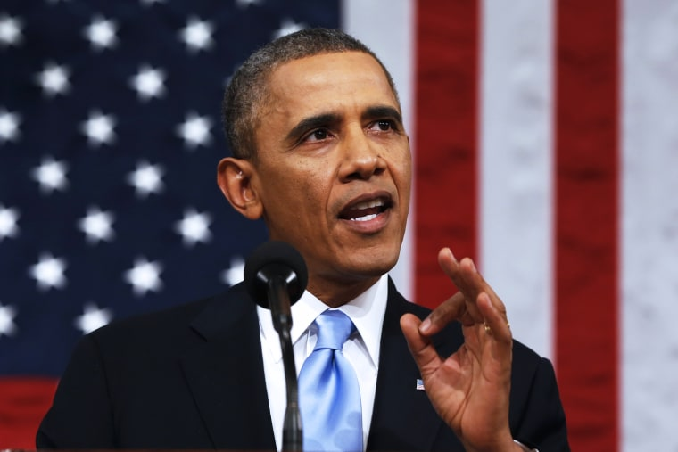 Barack Obama delivers the State of the Union address, Jan. 28, 2014.