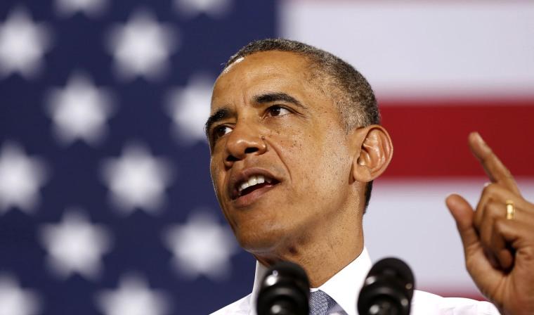 President Barack Obama talks at an event, Jan. 30, 2014, in Waukesha, Wis.