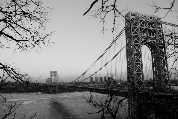 A view of the George Washington Bridge from New Jersey.