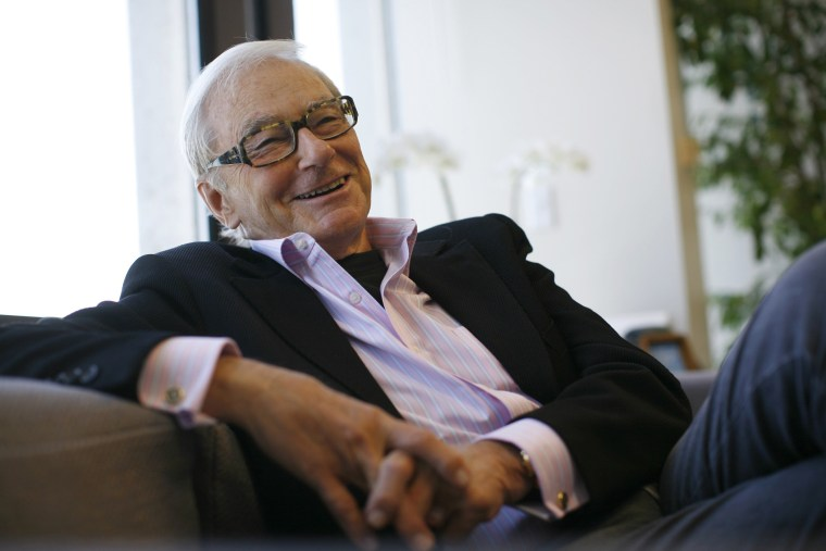 Venture capitalist Tom Perkins is interviewed in his office in San Francisco, California in this September 12, 2011 file photo.