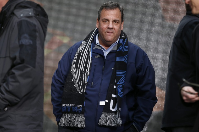 New Jersey Governor Chris Christie participates in a Super Bowl event in New York, Feb. 1, 2014.