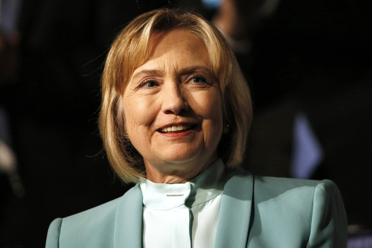 Former Secretary of State Hillary Clinton speaks at an event, Aug. 12, 2013, in San Francisco, Calif.