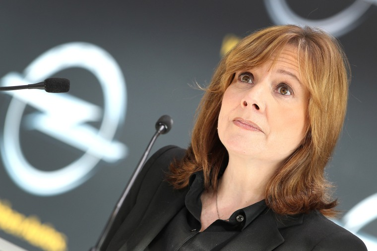 Mary Barra, a new CEO of GM, addresses the media during a news conference, Jan. 27, 2014.