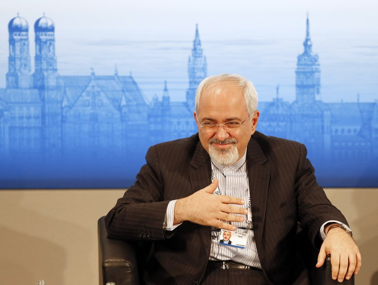 Iran's Foreign Minister Mohammad Javad Zarif listens during a panel discussion at the 50th Security Conference on security policy in Munich, Germany, Sunday, Feb. 2, 2014.