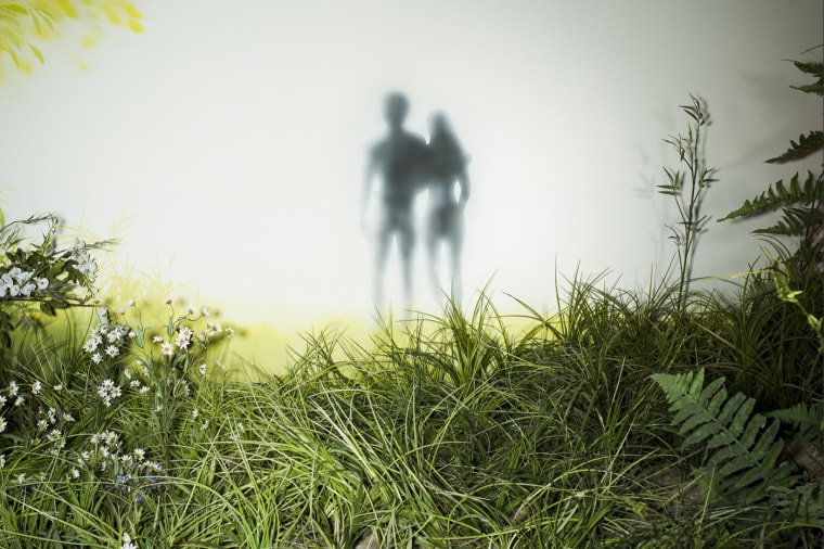 """Image depicting Adam & Eve's \""""Walk with God\"""" at the Creation Museum in Petersburg, Ky."""