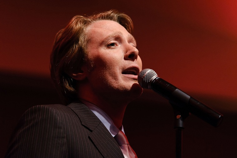Singer Clay Aiken performs with the on May 22, 2012 in New York City.