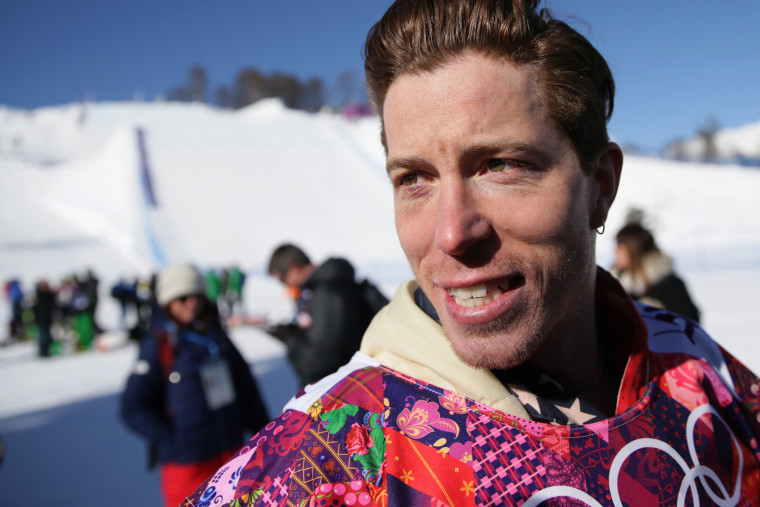 Shaun White is seen during training for Olympic Snowboard Slopestyle in Sochi, Russia, on Feb. 4, 2014.