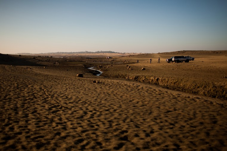 Folsom Lake reservoir has dropped to 18% capacity as an unseasonably dry winter in California stokes fears of a severe drought.