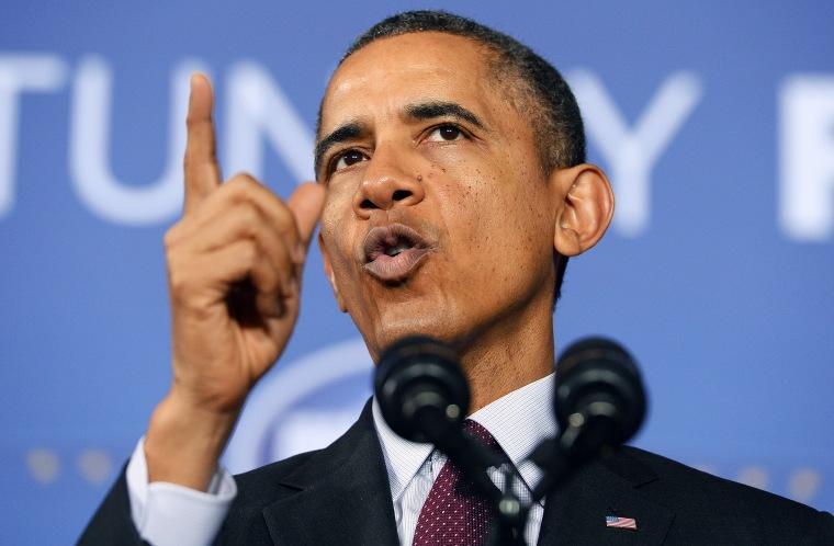 US President Barack Obama speaks in Adelphi, Maryland, on Feb. 4, 2014.