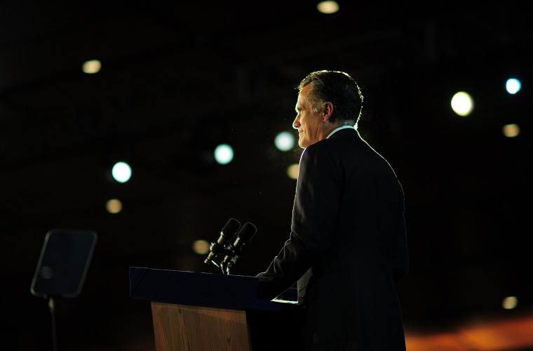 Republican presidential candidate Mitt Romney concedes defeat to President Barack Obama  Nov. 7, 2012 in Boston, Mass.