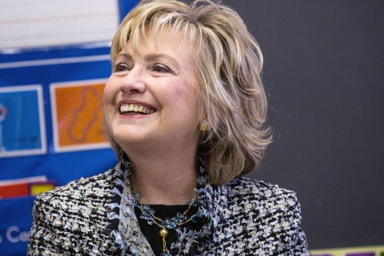 Hillary Clinton speaks on Feb. 4, 2014 in New York City.