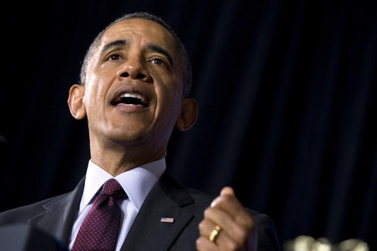 President Barack Obama speaks during an event, Feb. 4, 2014, in Adelphi, Md.