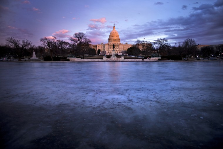 A view of the US Capitol on Jan. 27, 2014 in Washington.