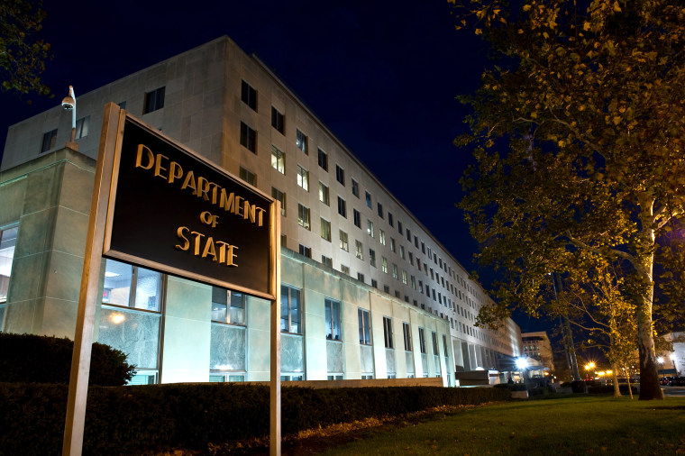 The US State Department is seen in Washington, DC.