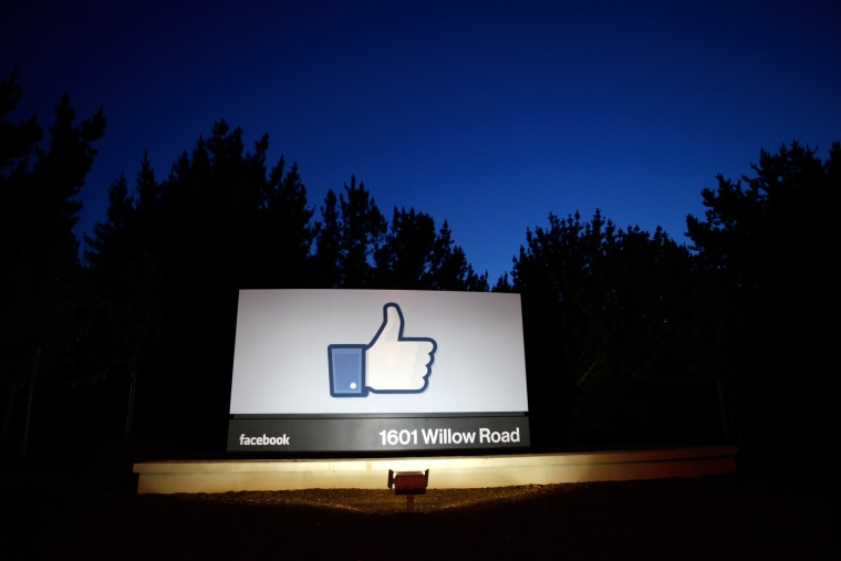The entrance of Facebook headquarters, May 18, 2012, in Menlo Park, Calif.