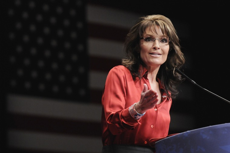 Former Alaska Governor Sarah Palin speaks to the American Conservative Union's annual Conservative Political Action Conference (CPAC) in Feb. 11, 2012.