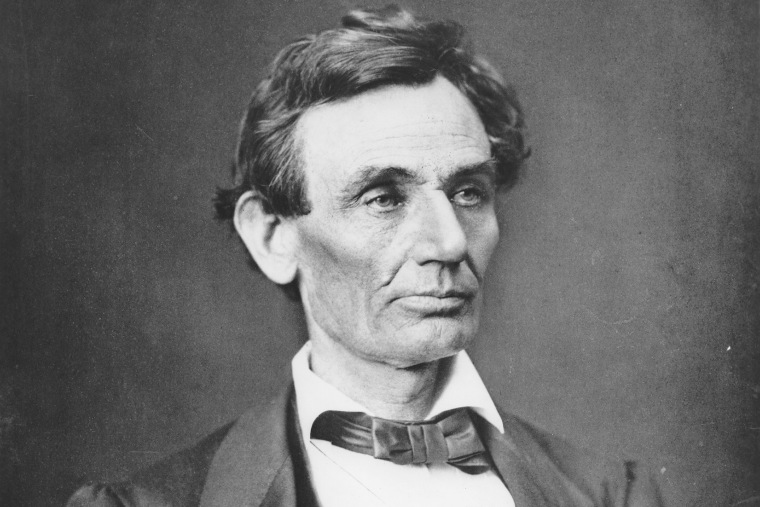 Abraham Lincoln (1809 - 1865), 16th President of the United States, 1860.