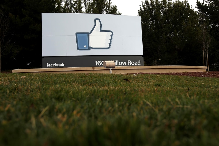 A sign stands in front of the Facebook headquarters, Feb. 1, 2012 in Menlo Park, Calif.
