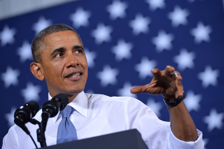 President Barack Obama speaks during an event, Jan. 30, 2014, in Waukesha, Wis.