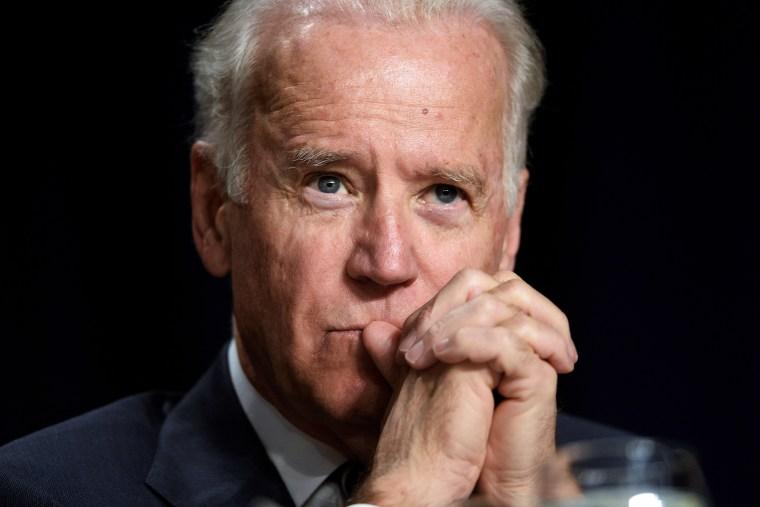 Joe Biden attends the National Prayer Breakfast at the Washington Hilton February 6, 2014.
